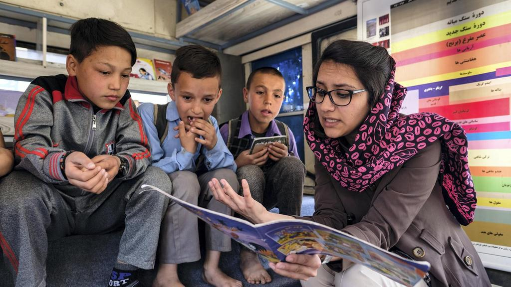 In Afghanistan, a bus brings joy of reading to children