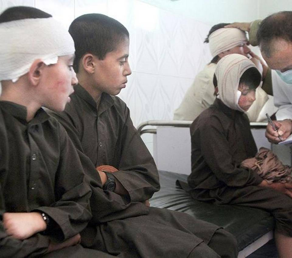 Afghan children caught in the crossfire