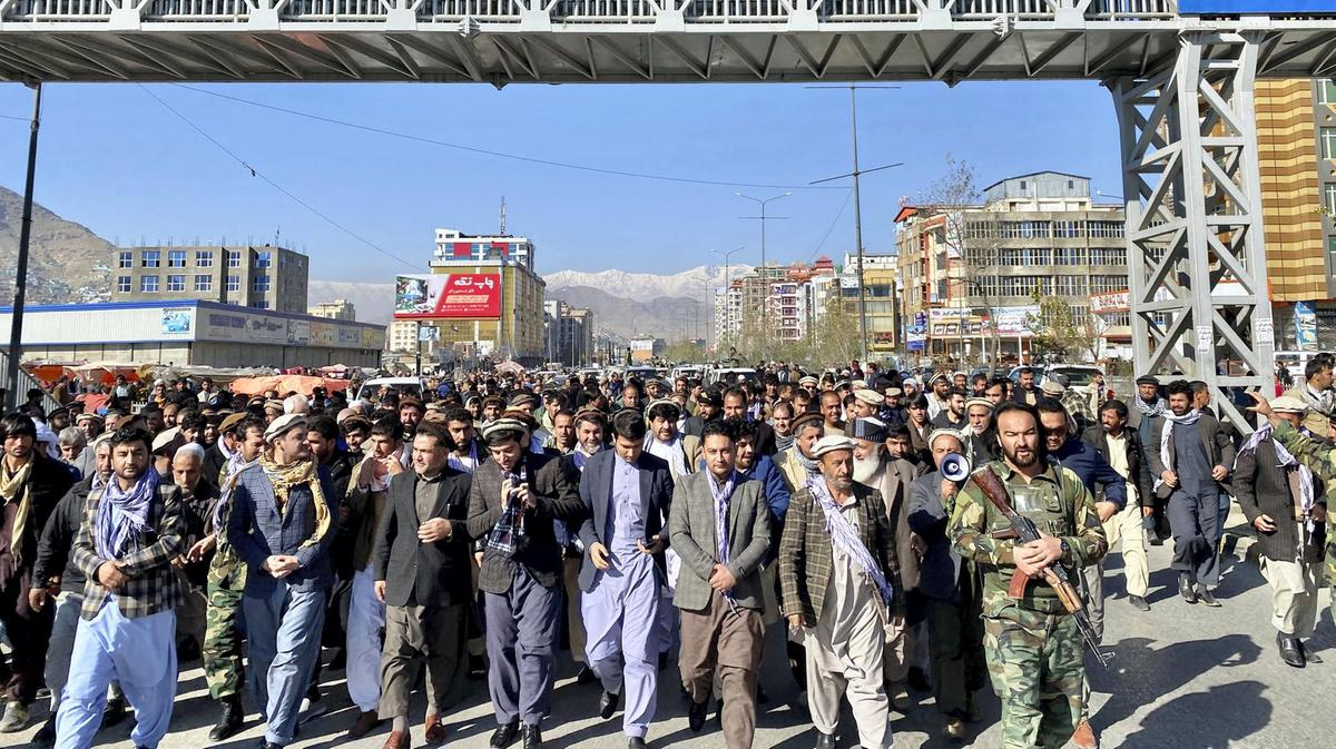 Protests in Kabul over vote recount for Afghan presidential election